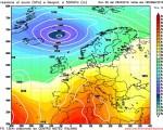 Modello GFS elaborato dal nostro Centro di Calcolo - Pressione al livello del mare e Geopontenziale a 500 hPa alle 18Z del 06 maggio 2016