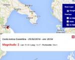 terremoto oggi costa ionica cosentina