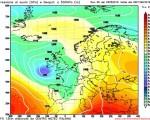 Modello GFS elaborato dal nostro Centro di Calcolo - Pressione al livello del mare e Geopontenziale a 500 hPa alle 12Z del 11 maggio 2016