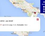 Terremoto oggi Basilicata 2 maggio 2016, scossa M 2.1 con epicentro in provincia di Matera, dati Ingv