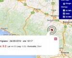Terremoto oggi Emilia Romagna 4 maggio 2016 scossa M 3.2 in provincia di Modena - Dati Ingv
