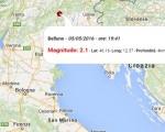 Terremoto oggi Veneto, 5 maggio 2016: scossa M 2.1 in provincia di Belluno - Dati Ingv