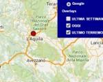 Terremoto oggi Abruzzo 6 maggio 2016 scossa M 2.1 provincia dell'Aquila, ipocentro ed epicentro - Dati Ingv