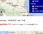 Terremoto oggi Toscana 18 maggio 2016 scossa M 3.1 provincia di Lucca - Dati Ingv