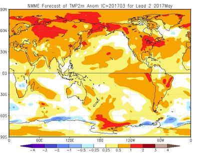 Meteo Maggio 2017, ultimo mese di primavera fresco e piovoso o con anticipo d'estate? - cpc.ncep.noaa.gov