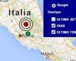 Terremoto oggi Lazio 24 maggio 2016 ieri scossa superficiale M 2.8 a Rieti - Dati Ingv