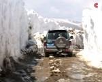 Neve in Cina Xinjiang settentrionale sommerso da una violenta tempesta invernale