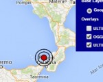 Terremoto oggi 26 maggio 2016 scossa M 2.6 Tirreno meridionale - Dati Ingv