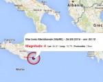 Terremoto oggi Sicilia 26 maggio 2015: scossa M 4.0 Mar Ionio Meridionale - Dati Ingv