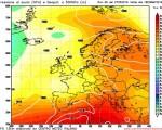 Modello GFS elaborato dal nostro Centro di Calcolo - Pressione al livello del mare e Geopontenziale a 500 hPa alle 18Z del 29 maggio 2016