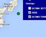Terremoto oggi 27 maggio 2016 scossa M 2.0 mar Ionio -  Dati Ingv