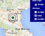 Terremoto oggi Lombardia 28 maggio 2016 scossa M 3.1 provincia di Mantova - Dati Ingv