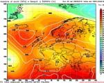 Modello GFS elaborato dal nostro centro di calcolo - Pressione al livello del mare e geopotenziale a 500hPa per le 18Z del 01 giugno 2016
