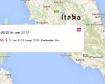 Terremoto oggi Umbria, 29 maggio 2016: scossa M 2.1 in provincia di Perugia - Dati Ingv