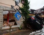 Alluvione in Germania a Braunsbach le strade si sono trasformate in torrenti in piena