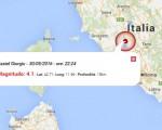 Terremoto oggi Umbria, 30 maggio 2016: scossa M 4.1 in provincia di Terni - Dati Ingv