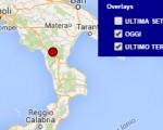 Terremoto oggi Basilicata 31 maggio 2016 scossa M 2 in provincia di Potenza - Dati Ingv