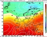 Modello GFS elaborato dal nostro Centro di Calcolo - Pressione al livello del mare e Geopontenziale a 500 hPa alle 12Z del 03 luglio 2016