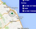 Terremoto oggi Marche 25 giugno 2016 scossa M 3.4 Ancona - Dati Ingv