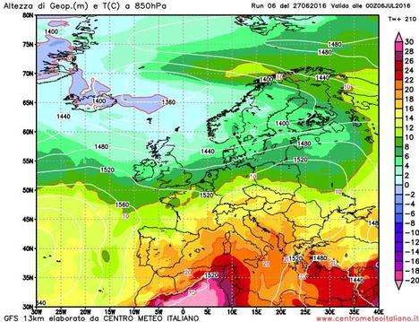 Meteo, luglio pazzo: temporali al Nord, caldo africano al Centro-Sud