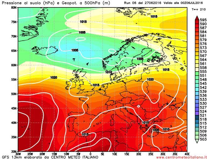 METEO LUGLIO 2016 Italia tra Atlantico e anticiclone con clima in prevalenza soleggiato e caldo temperature poco sopra la media