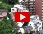 Disastro in Giappone: case crollano dopo una violenta frana