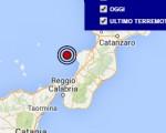 Terremoto oggi Calabria 16 luglio 2016 scossa M 2.4 costa calabra sud occidentale - Dati Ingv