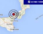 Terremoto oggi Sicilia 21 luglio 2016 scossa M 3.3 costa siciliana nord orientale - Dati Ingv