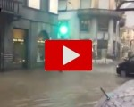 Maltempo in Lombardia: Como completamente allagata dalla pioggia