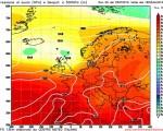 Modello GFS elaborato dal nostro Centro di Calcolo - Pressione al livello del mare e Geopontenziale a 500 hPa alle 18Z del 25 luglio 2016