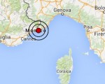 Terremoto oggi Liguria 25 luglio 2016 scossa M 3.0 costa ligure occidentale - Dati Ingv