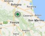 Terremoto oggi Emilia Romagna 26 luglio 2016 ieri scossa M 2.5 in provincia di Bologna - Dati Ingv