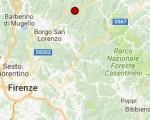 Terremoto oggi Toscana 27 luglio 2016 scossa M 2.1  provincia di Firenze - Dati Ingv