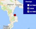 Terremoto oggi Calabria 28 luglio 2016 scossa M 2.1 in provincia di Cosenza - Dati Ingv