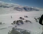 Sono oltre 25 i centimetri di neve che hanno coperto il Sudafrica centrale, con i fiocchi caduti oltre i 2000 metri