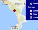 Terremoto oggi Campania 2 agosto 2016 scossa M 2.1 provincia di Salerno - Dati Ingv