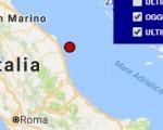 Terremoto oggi Marche 8 agosto 2016 scossa M 2.2 costa marchigiana fermana - Dati Ingv