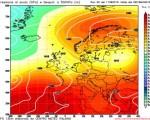 Assetto barico per il medio-lungo periodo, in evidenzia l'isolamento della cellula altopressoria sulla Scandinavia - Elaborazione grafica Run 00z del 11 agosto 2016 CMI