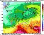 Temperature previste all'altezza di 850 hPa per la giornata di Venerdì 19 agosto - Elaborazione grafica CMI - Run GFS00Z