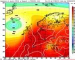 Analisi GFS 23 agosto 2016 - in evidenza la circolazione instabile al Sud prevista tra martedì e mercoledì - Elaborazione grafica CMI
