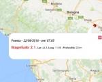 Terremoto oggi Emilia Romagna, 22 agosto 2016: scossa M 2.1 in provincia di Ravenna - Dati INGV