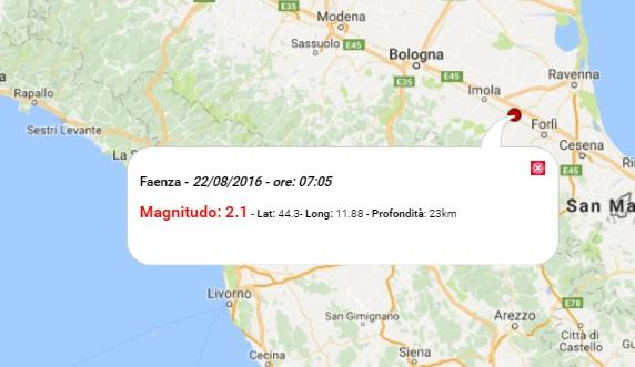 Terremoto oggi emilia romagna 22 agosto 2016 scosse m 2 for Oggi in romagna