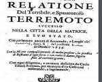 Il documento che testimonia le tragiche conseguenze del forte sisma che ha colpito Amatrice nel 1693 - fonte: Repubblica