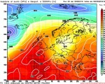 Modello GFS elaborato dal nostro centro di calcolo - Pressione al livello del mare e geopotenziale a 500hPa per le 06Z del 05 settembre 2016