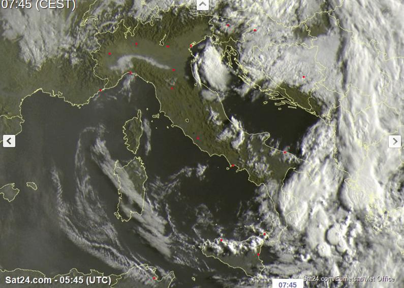 Maltempo: ancora temporali al Centro-Sud