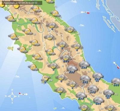 In arrivo il Ciclone Morgana: forti temporali e generale calo termico