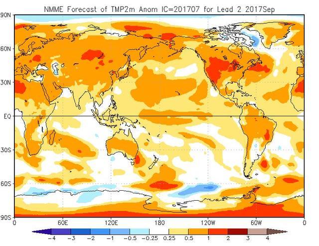 Meteo Settembre 2017, mese meno caldo e più piovoso - cpc.ncep.noaa.gov