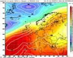 Analisi modelli 00z 22 settembre 2016 - quadro barico atteso nella prossima settimana e rappresentativo della situazione prevista sull'Italia, con una debole circolazione depressionaria presente sulla Sardegna e il vasto anticiclone europeo - Rielaborazione grafica CMI