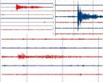 Da Iesn.org, le immagini dei sismografi italiani che registrano il sisma in Romania (Tivoli, L'Aquila e )
