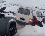 Neve in Turchia primo assaggio d'inverno per le montagne nel Nord Est del paese